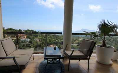 Nice apartment with panoramic views in Altea